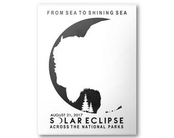 Great American Solar Eclipse 2017 National Park Poster