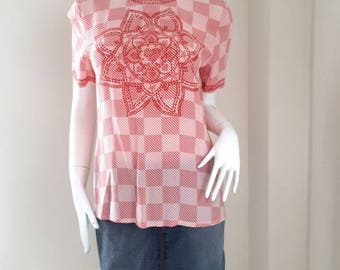 1980's ESCADA by Margaretha Ley Silk Blouse Size 38 Made in Germany