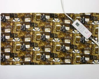 Heating Pad Cover ~ Electric Heating Pad Cover ~ Fits 12 x 24 ~ Cover Only ~ Hot Coffee Anyone