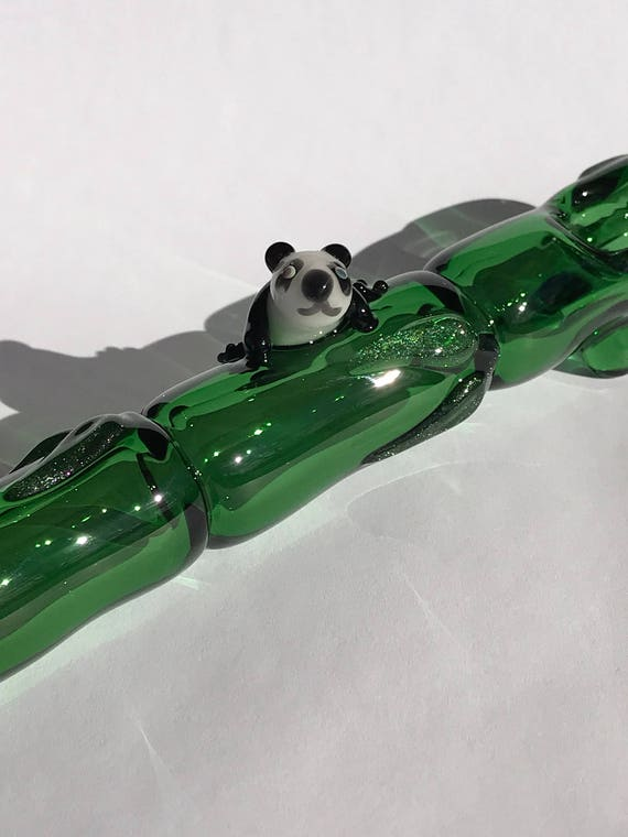 Panda on the Bamboo Glass Pipe