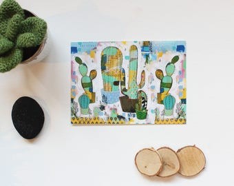 "Postcard ""cactus Green"" card, 5, 10 x 14, 7cm"