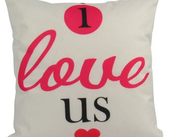 I Love Us | Pillow | 18 x 18 | I Love Us Pillow | Gift for Her | Romantic Gifts | Valentines Day Gift | Love Pillowcase | Love Gift | Love