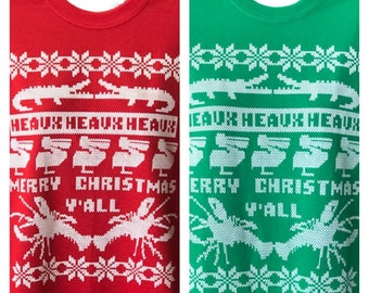 Cajun Christmas Ugly Sweater Tee