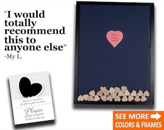 Unique Wedding Guest Book Alternative Wood Guest Book Frame Unique Guest Book Idea Drop Top Box Frame Wedding Guestbook Heart Guest Book