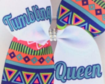 Cheer Bow - Tumbling Queen