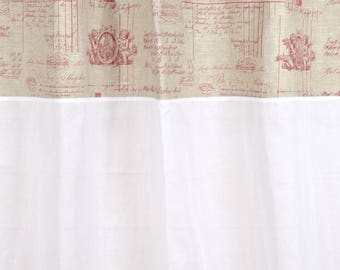 "Curtain 150 X 250 ""Red Angel"" with sheer lace"