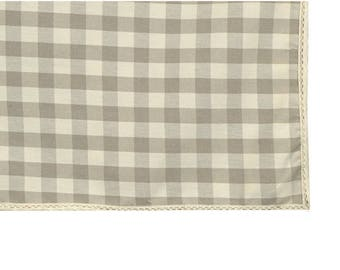 """Square tablecloth """"country ecru"""" coated 150 X 150 with lace fabric"""