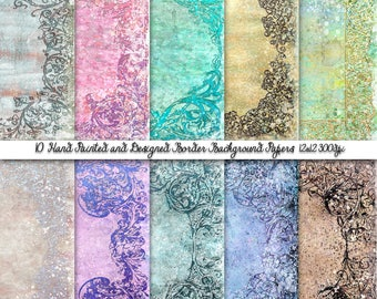 8.5X11 Printable papers,Vintage Boarders Printable papers, commercial use, Scrapbook papers, Graphic Papers, Scrap booking papers.