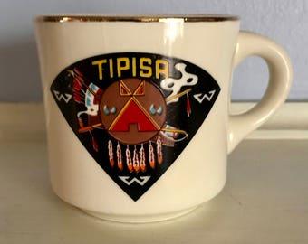 Boy Scouts Vintage 1970's Central Florida Council - Order Of The Arrow, Tipisa Lodge Mug