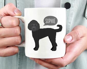 Black Doodle Labradoodle Mug, Personalized Name Coffee Mug, Custom Dog Mug, Pet Coffee Mugs, Dog Lover Gift 11oz 15oz Coffee Mug Cup, Glass