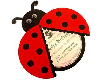 ladybug birthday invitations ladybug invitations ladybug