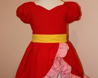 Disney Inspired Elena of Avalor Cotton Washable Play Costume Dress