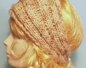 Beige headband in acrylic