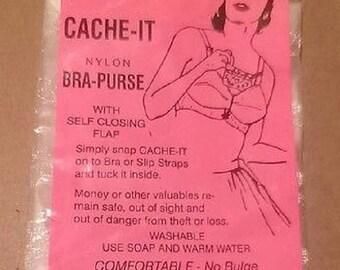 Back 2 School  Sale Cache-It Nylon Bra Purse  Cache-It Nylon Bra Purse. 1950s Bandwagon, Inc. Novelty hidden bra purse in its original packa
