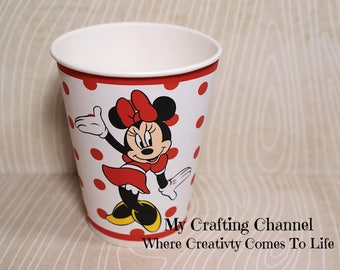 Red Minnie Mosue #2  Birthday Party Cups-Minnie-Minnie Mouse-Party Birthday Cups-Party-Birthday-Cups