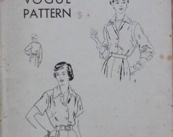 "Vintage Sewing patterns. Vogue 6817, blouse pattern, bust 36"""