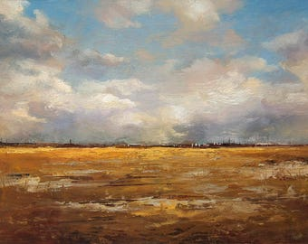 Oil Painting 6x8 in - ORIGINAL - Landscape - Painting by Bruno C. Monteiro