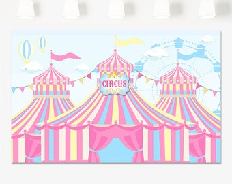 SALE Carnival birthday backdrop Circus Backdrop Banner Pink Circus Backdrop Girl Circus  sc 1 st  Etsy & Big top party | Etsy