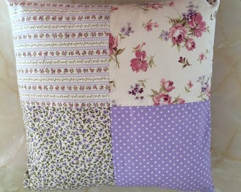 Lilac floral cushion,  lilac floral pillow,