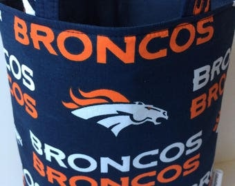 Broncos Mothers Day, Denver Broncos Holiday Gift Bag, Super Bowl Party Hostess Gift, Broncos Fan Gift, Denver Broncos Baby, Broncos NFL Bag