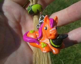 Halloween Inspired Horsehair Keychain