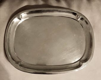 CHRISTOFLE silver-plated rectangular serving tray, numbered, stamp and Goldsmith stamp