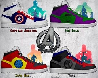 Men's Light Up Avengers Shoes