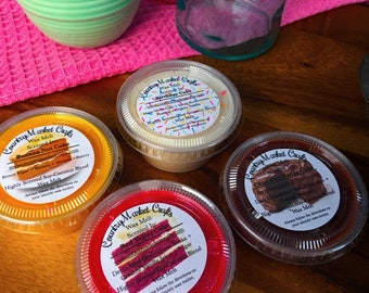 Cake Wax Melt Sampler Cake Scents  -  Multi Pack Christmas Tarts Wax Sample Melts Wax Melters Gift Set Scent Shot Sampler