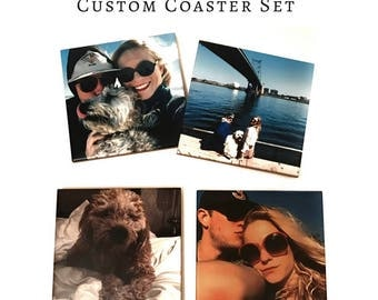 Personalized Coasters With Your Instagram Photos  / Valentines Day Gift For Husband Or Wife