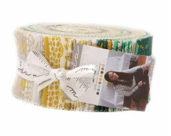 "Big Sky Jelly Roll - Annie Brady for Moda - Fabric Strips - 2.5"" Strips - Bear, woodland, moose, trees"