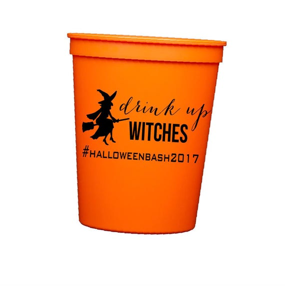 Halloween Cups, Halloween Party cups, Personalized Cups, Drink up witches, Halloween party decor,  Custom plastic Cups, Custom Stadium Cups