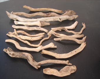 drift wood, wavy and tarabiscotés