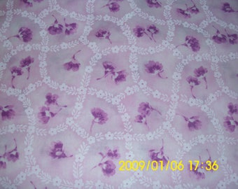 Pink and Purple Fabric / Classic Cottons / Floral Fabric / Quilting Fabric / Girls Dress Fabric / Sewing Fabric / 100% Cotton Fabric