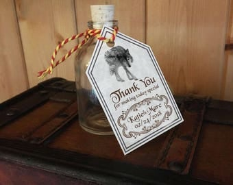 Game of Thrones Thank You Favour Tags Wedding Party