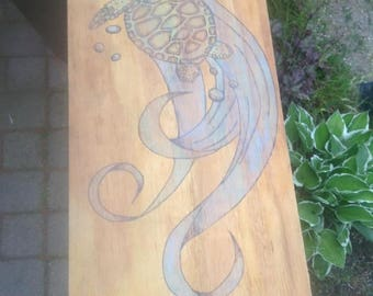 Turtle Pyrography