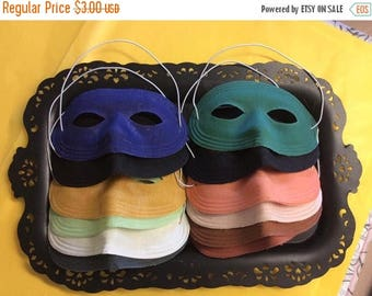 60s Eye Mask Costume Accessory Assortment of Colors