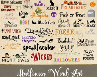 Halloween words  Etsy