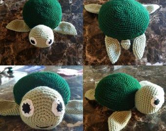 Amigurumi stuffed turtle