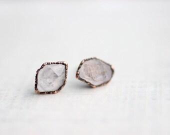 Herkimer Diamonds Quartz Studs Tibetan Quartz Studs Wedding Studs Quartz earrings