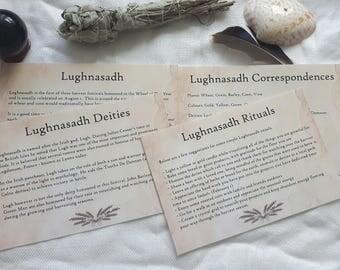 Lughnasadh Printable Sheets | Lammas Printable Sheets | Information on Lughnasadh or Lammas to Print at Home