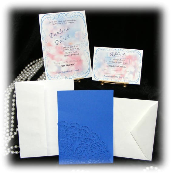 "The Darlene ""WEDDING INVITATIONS PLUS"" See Price List Inside"
