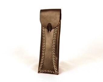 Oiled Leather Pen Case, Leather Pen Case, Leather Pen Holder, Pen Case, Pen Holder, Leather Pen Cover, Leather pen pouch, Handmade Pen Case.