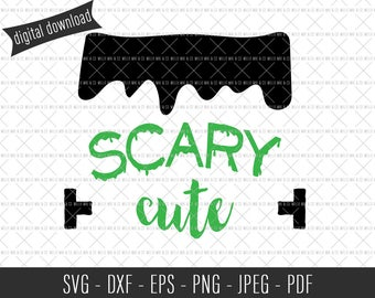 Scary Cute Frankenstein, Frankenstein, Halloween SVG, Halloween Cut File, Halloween Clip Art, Commercial SVG, Commercial Clip Art, Cut File