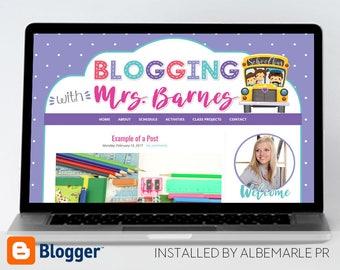 Premade Blogger Template // Blogspot Template // Teacher Blog Template - Mrs. Barnes