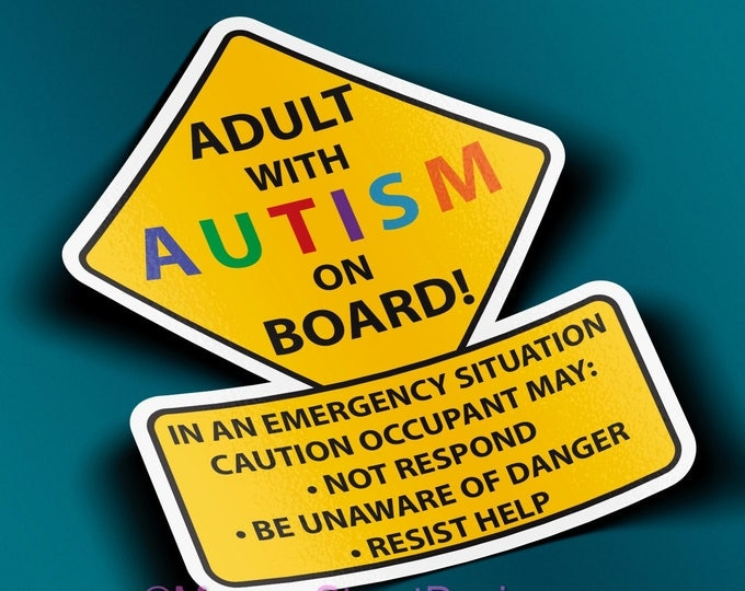 Adult With Autism Car Truck Decal Sticker