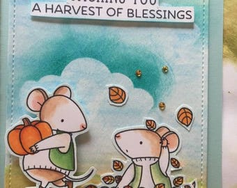 Wishing you a Harvest of Blessings Thanksgiving Card