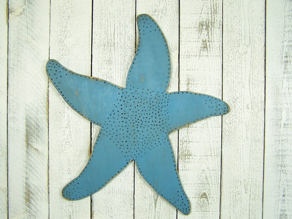 Large Starfish Wall Decor : Large starfish decor wooden wall wood