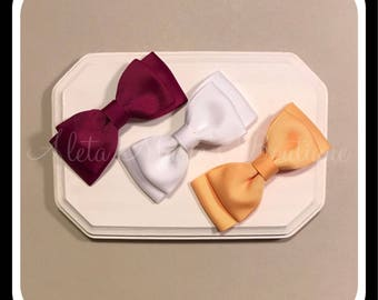 Set of Three (3) Tuxedo Style Bows, Simple Hair Bow, Bow tie Bows, Bowtie Bows, Tuxedo Bows, Uniform Bows