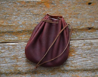 Leather Drawstring Pouch Pattern