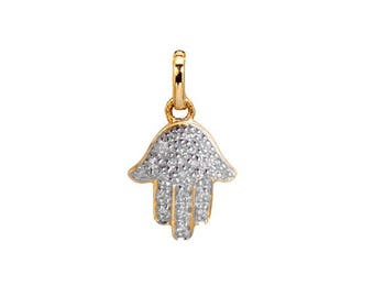 ON SALE Diamond Hamsa pendant